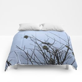 Winter Birds on Bare Branches Comforters