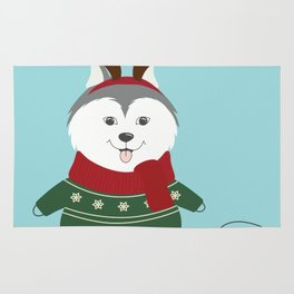 Happy Pet in Ugly Christmas Sweaters Rug