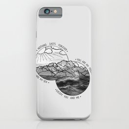 mountains-biffy clyro iPhone Case