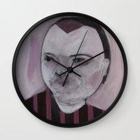 girly Wall Clocks featuring Girly by Embla Øverbye