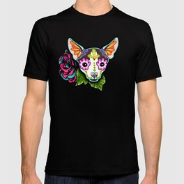 Chihuahua in Moo - Day of the Dead Sugar Skull Dog T-Shirt