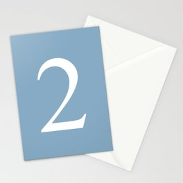 number two sign on placid blue color background Stationery Cards