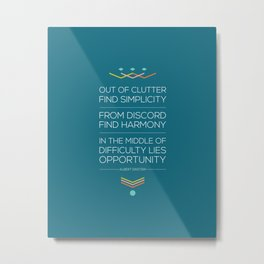 Out of Clutter Find Simplicity Metal Print