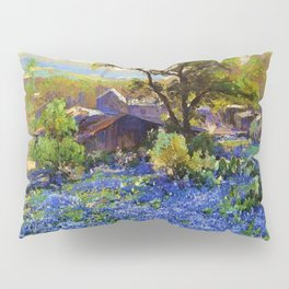 Bluebonnets at the Quarry Texas landscape desert painting by Robert Julian Onderdonk Pillow Sham