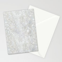 White Apophyllite Close-Up Crystal Stationery Cards
