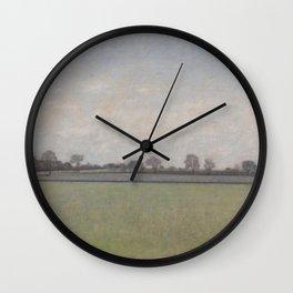 Vilhelm Hammershøi - Landskap, tidlig vår Bernstorfvejen sett fra Hellerupvej Wall Clock