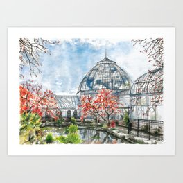 Detroit Belle Isle Conservatory Art Print