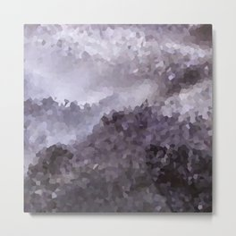 Grey crystals. Metal Print