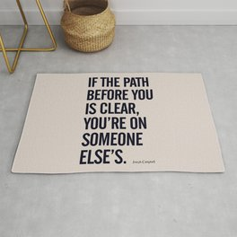 Motivational life quote, Joseph Campbell, path quotes, overcome life's challenges Rug