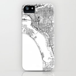 San Diego White Map iPhone Case
