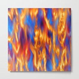 Torched Metal Print