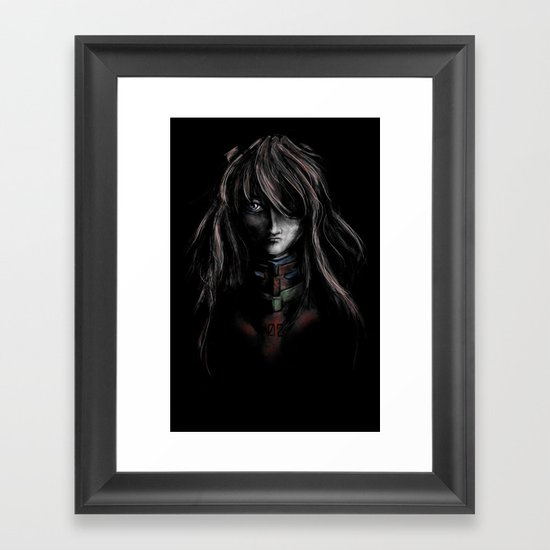 Asuka Langley Soryu Digital Painting Rebuild of Evangelion 3.0 Character Poster Framed Art Print