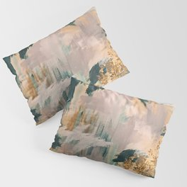 Teal and Gold Abstract- 24K Magic Pillow Sham