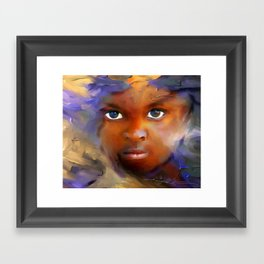 every child  / Haiti., Caribbean, children, portrait Framed Art Print