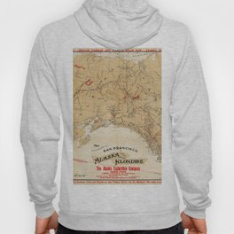 Map of Alaska 1898 Hoody