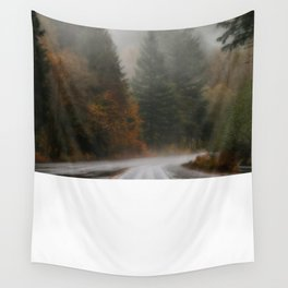 Autumn on the Road Wall Tapestry