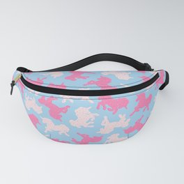 Frosted Unicorn Cookies Pattern on Blue Fanny Pack