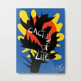 Cactus of Life Graffiti Street Abstract Art Metal Print