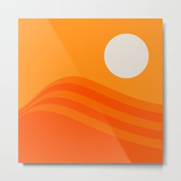 Swell - Orange Crush Metal Print