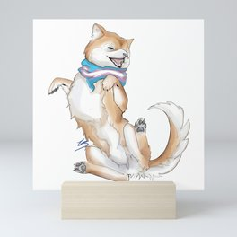 Trans Pride Pupper Mini Art Print
