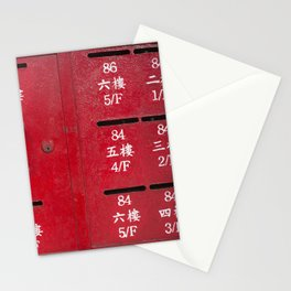 Red Mail Box Stationery Cards