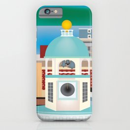 Halifax, Nova Scotia, Canada - Skyline Illustration by Loose Petals iPhone Case