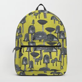 Mushrooms in yellow Backpack