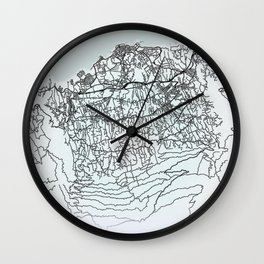 Puerto de la Cruz, Spain, White, City, Map Wall Clock