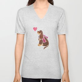 Watercolour American Cocker Spaniel Unisex V-Neck