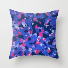 3D Abstract organic pattern Throw Pillow