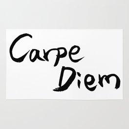 Carpe Diem Black character Rug