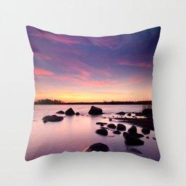 The Bear Island Sunrise Throw Pillow