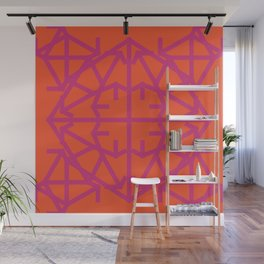 Diamond Bug Pink Yarrow - Flame Wall Mural