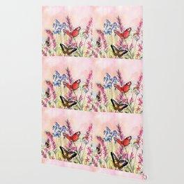 Wild meadow butterflies Wallpaper
