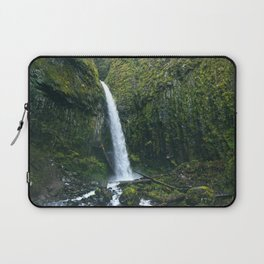 Waterfall.Oregon.Moss.Green.Forest.Enchanted.PNW. Laptop Sleeve