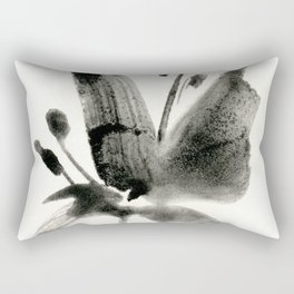Brushstroke Floral No.3A by Kathy Morton Stanion Rectangular Pillow