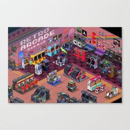 Retro Arcade Canvas Print