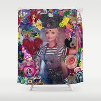 90s Shower Curtains featuring I'M FROM 90S by Renka