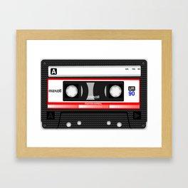Retro audio cassete Framed Art Print