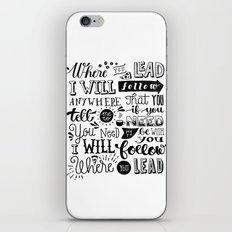 Where You Lead | Gilmore Girls iPhone & iPod Skin