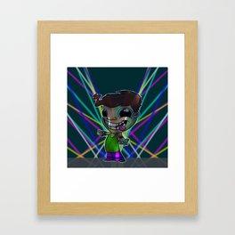 Rave Head Framed Art Print