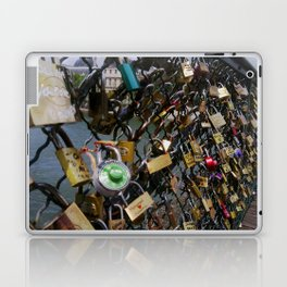 Love padlocks on Pont des Arts, Paris Laptop & iPad Skin