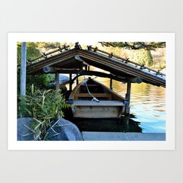 Sheltered Boat Art Print
