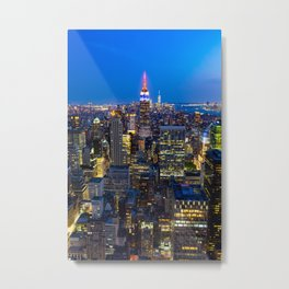 Manhattan - New York Metal Print