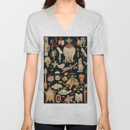 Albert Racinet - Chinese pattern from L'ornement Polychrome Unisex V-Neck