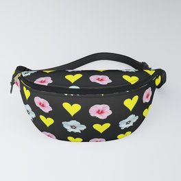 hearts and flowers -bloom,blossom,petal,floral,leaves,flor,garden,nature,plant. Fanny Pack