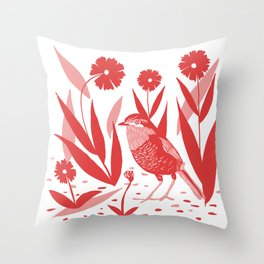 chucao rojo Throw Pillow