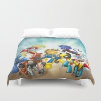 x men Duvet Covers featuring MLP X-Men by Kimball Gray
