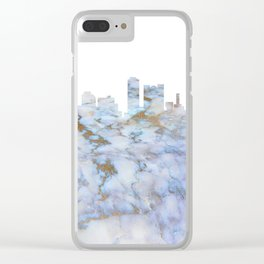 Adelaide City Skyline Clear iPhone Case