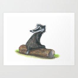 Badgers Date Art Print